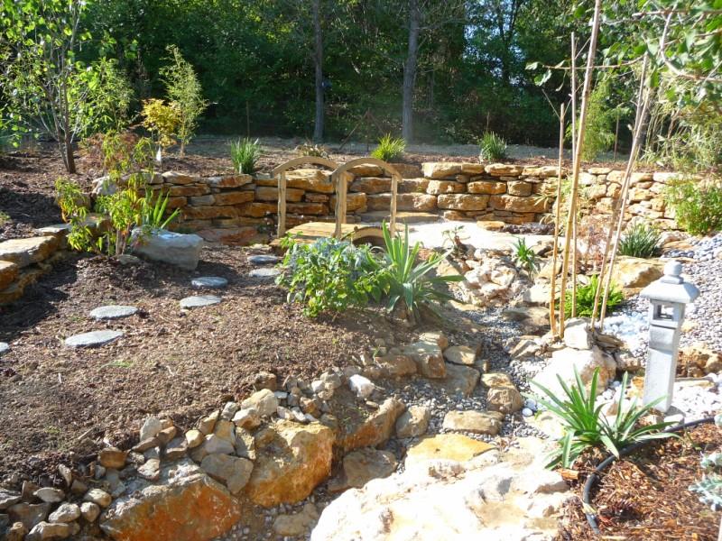Cr ation d 39 un jardin sec zen sur brignole bandol hy res pierres de provence - Creation jardin zen ...